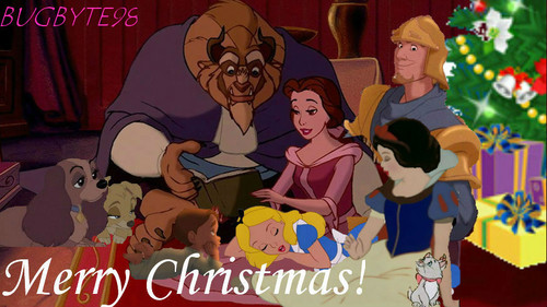 disney crossover fondo de pantalla containing anime called Family navidad