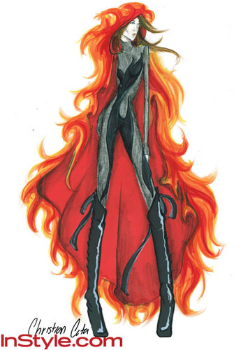 """Fashion Designers Sketch Katniss's """"Girl on Fire"""" Outfit"""