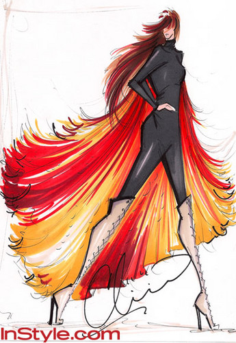 "Fashion Designers Sketch Katniss's ""Girl on Fire"" Outfit"