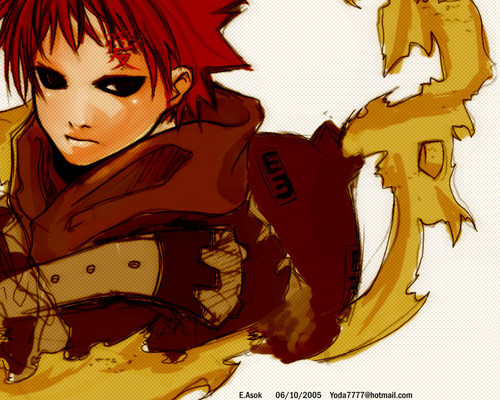 Gaara of Suna wolpeyper with anime titled Gaara <3