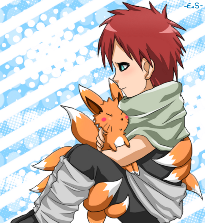 Gaara and naruto, omg how precious is this???