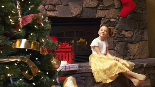 Girl waiting for santa