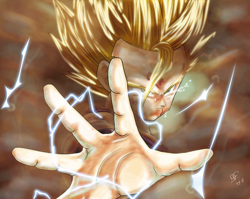 Dragon Ball Z Hintergrund called Gohan ssj2