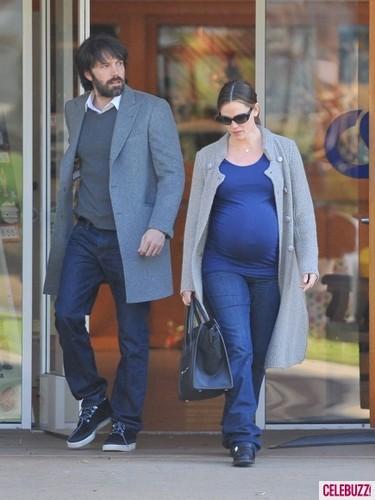 Jen and Ben leave parent teacher conference at Violet's school