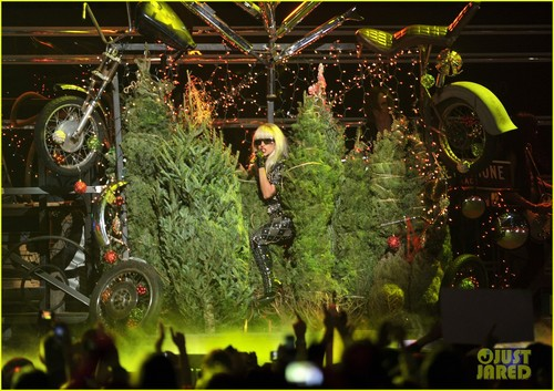 Lady Gaga dazzles at Z100 Jingle Ball (December 9) at Madison Square Garden in New York City