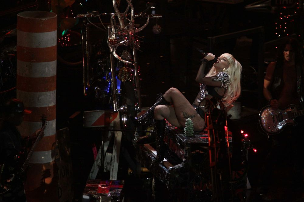 Lady Gaga performing live at Z100's Jingle Ball at Madison ...
