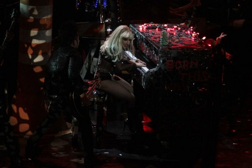 Lady Gaga performing live at Z100's Jingle Ball at Madison Square Garden