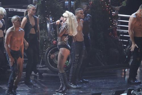Lady Gaga performing live at Z100's Jingle Ball at Madison Square Garden