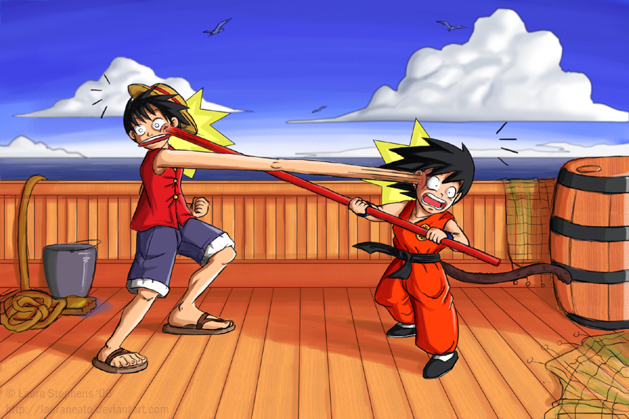 Monkey D Luffy Vs Monkey Boy Dragon Ball Z Fan Art