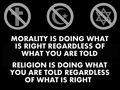 Morality and Religion  - atheism photo