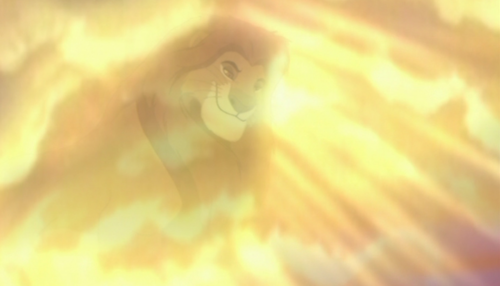 Mufasa in the clouds