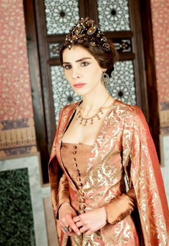 Nur Fettahoglu as Mahidevran on Muhtesem Yuzyil
