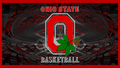 OHIO STATE basketball, basket-ball RED BLOCK O