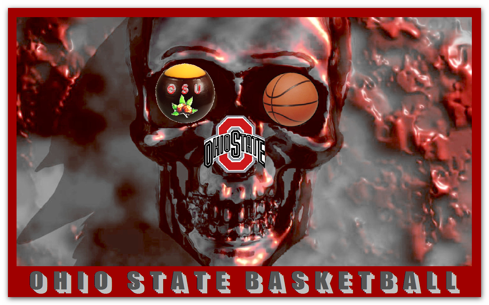 OHIO STATE BASKETBALL SKULLER