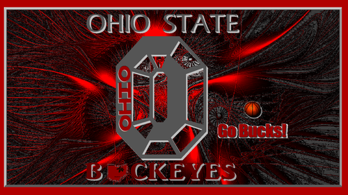 Basketball wallpaper probably with anime entitled OHIO STATE BUCKEYES GO BUCKS!
