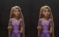 Rapunzel with normal eyes
