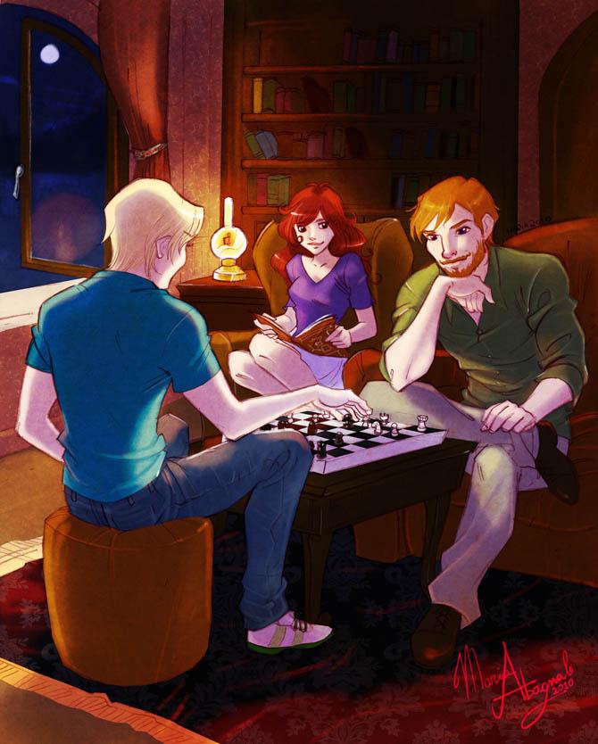 Rose, Scorpius and Ron fan Art
