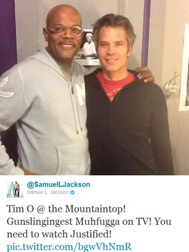 Samuel L. Jackson posts about Justified on Twitter - justified Photo