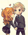 Scorpius and Rose Fan Art - rose-and-scorpius fan art