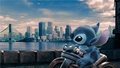 Stitch searching cities - lilo-and-stitch fan art