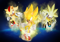 Super Sonic, Super Shadow and Super Silver - sonic-characters fan art