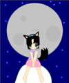 Suuki and the moon - suuki-kitsune fan art