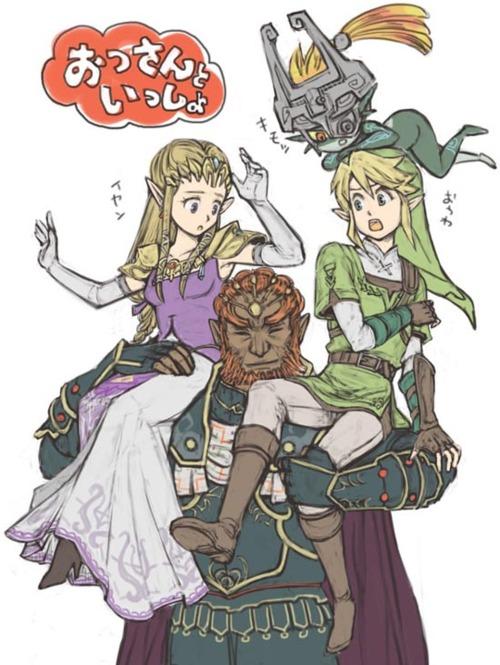 Tp Prontagonists La Leyenda De Zelda Fan Art 27562535