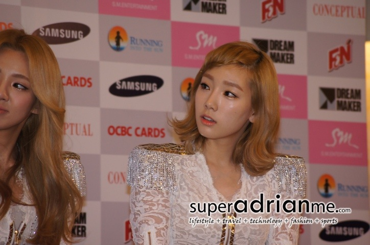 Taeyeon@Girls Generation Tour in Singapore Press Conference