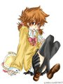 Tsuna (in girl clothes)
