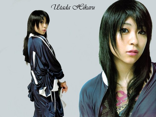 Utada Hikaru achtergrond containing a well dressed person and a portrait called Utada Hikaru