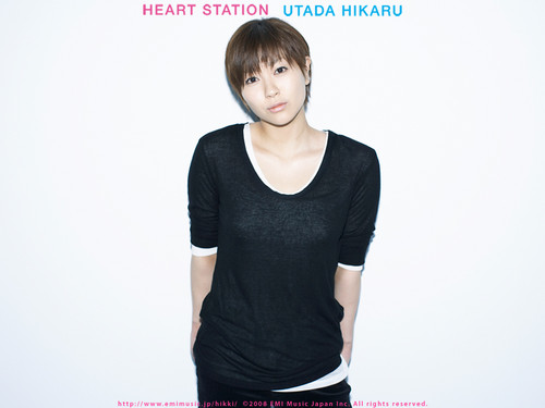 Utada Hikaru দেওয়ালপত্র probably containing a playsuit and long trousers called Utada Hikaru
