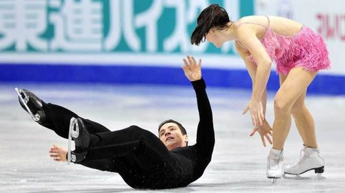 Virtue, Moir fall behind in dance final