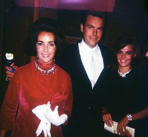 With Elizabeth Taylor