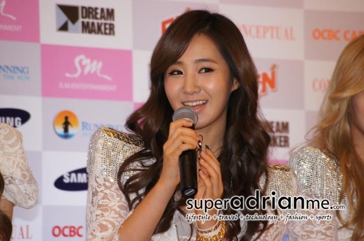 Yuri@Girls Generation Tour in Singapore Press Conference