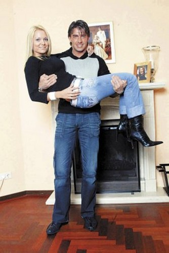 Zdenek Grygera and wife - wags Photo