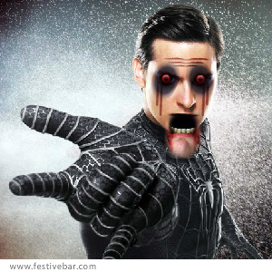 Spider-Man wallpaper containing a fountain titled Zombie Spider Man