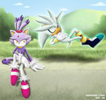 blaze and silver chilling out