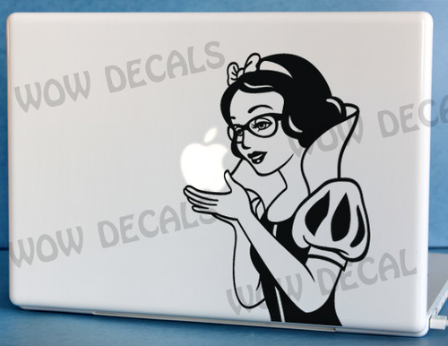 cool snow white яблоко laptop
