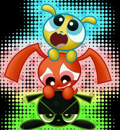 Powerpuff and rowdyruff mga hayop wolpeyper called cutie
