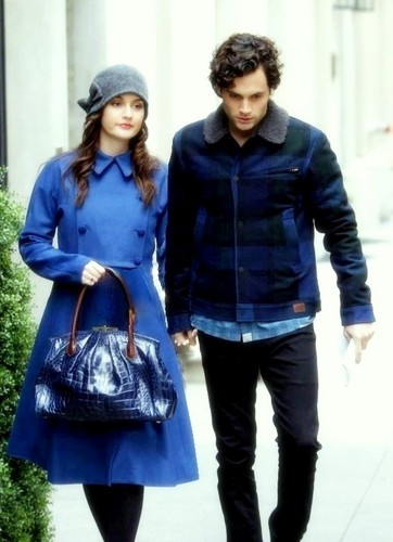 Dan and Blair wallpaper probably containing an outerwear, long trousers, and a box coat entitled dan and blair