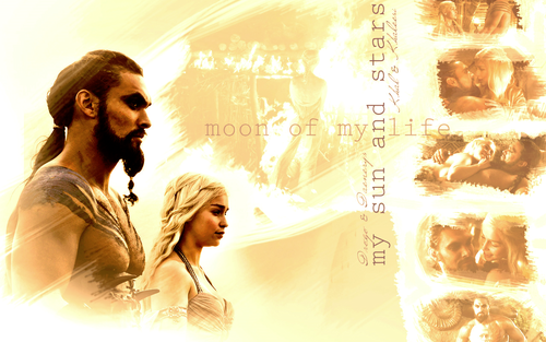 Game Of Thrones Wallpaper Possibly Containing A Sign And Portrait Called Daenerys Targaryen Khal