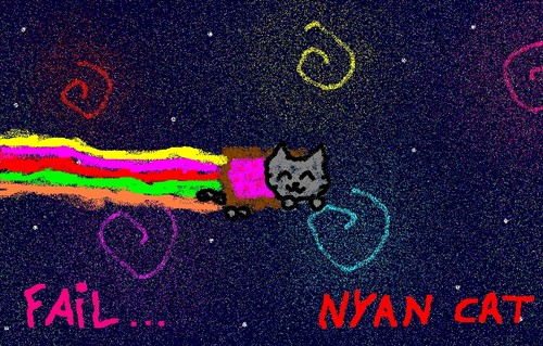 Nyan Cat wallpaper probably with a sign titled my nyan cat