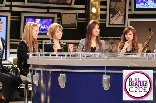 snsd at mnet's 'beatles' code'