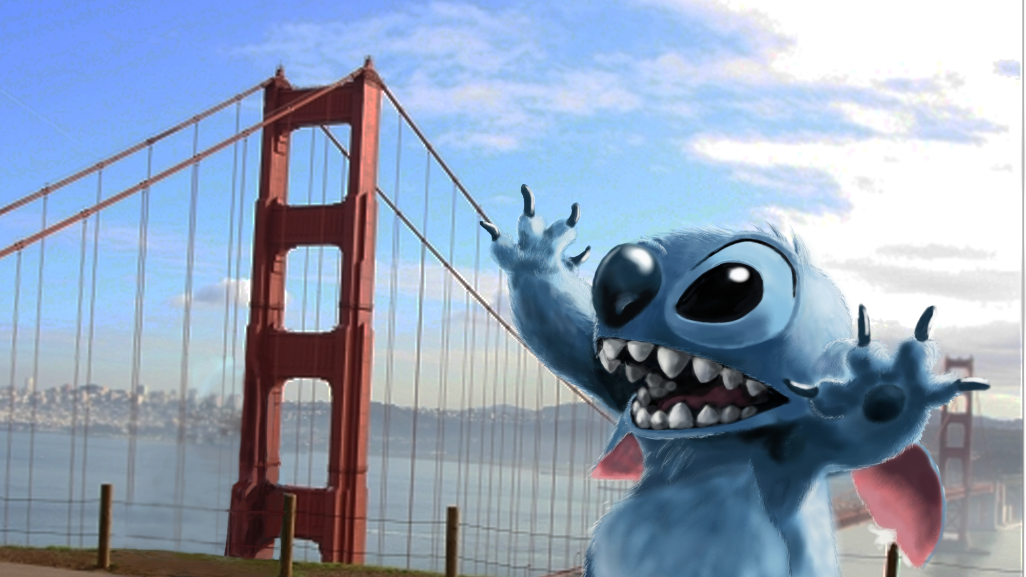 lilo stitch images stitch in san francisco hd wallpaper and