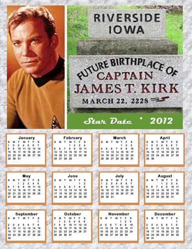 2012 ngôi sao Trek Calendar