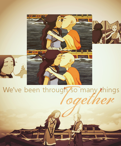 Aang and Katara ~ ♥ - avatar-the-last-airbender Photo