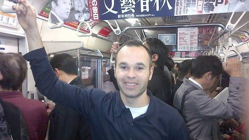 Andres Iniesta in a Japanese subway (December 13, 2011)