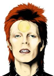 Ziggy Stardust wallpaper containing a portrait titled Bowie Art