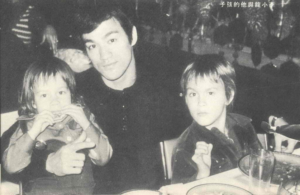Bruce with his kids