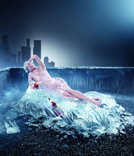 milla jovovich wallpaper containing a water and a perenang called Campari Calendar 2012 Photoshoot